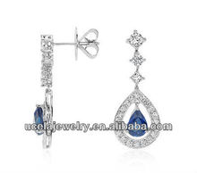 2014 Most Popular Custom bali 925 sterling silver wholesale earring