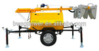 5kw/kva Electric Trailer Portable Mobile Light Tower genset 4x1000W