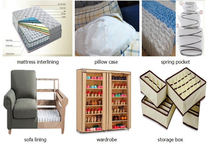 Furniture material spunbonded polypropylene nonwoven fabric/TNT non woven fabric for sofa lining material