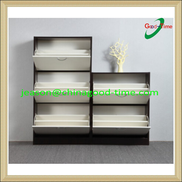 wooden shoe cabinet closed shoe rack