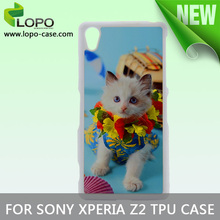 New Printable Blank sublimation cell phone case for Sony Z2