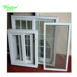 Industrial Project PVC window, Factory price building white color PVC plastic window price
