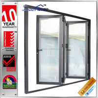 container homes sound proof and weather proof aluminum folding door with built in blinds