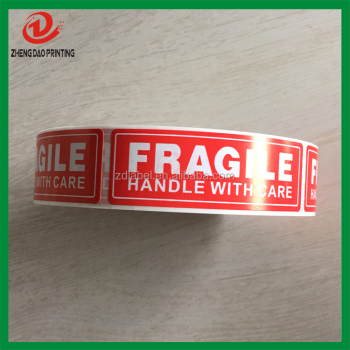 "1000 1"" x 3"" Fragile Handle with Care Label Sticker"
