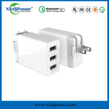 factory directly supply qualcomm 3.0 KC approved muti-port Rapid Charging OCP protected ODM wholesale mini usb wall charger