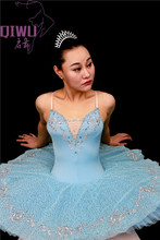 New sky blue professional stage performance clothing ballet tutu dress for the girl ABT-021