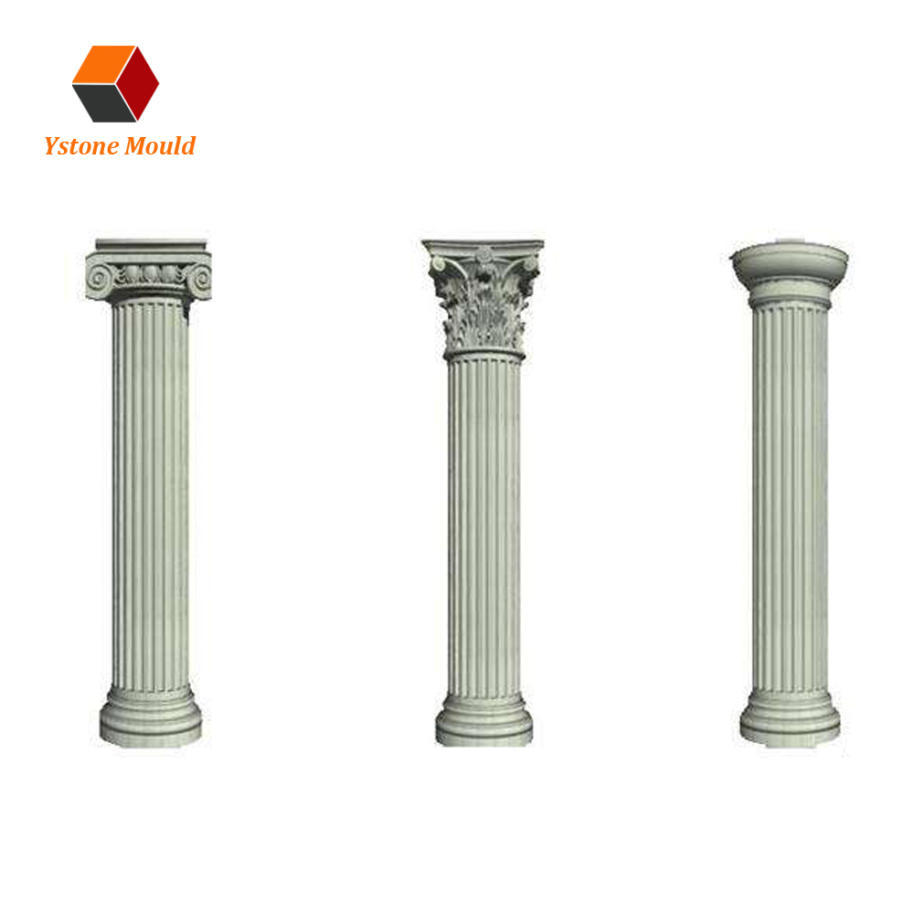 Plastic injection fence post decking garden columns molds