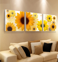 Home backdrop design canvas village life sunflower oil painting