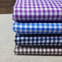 designer check shirts for men cotton yarn dyed shirting fabric