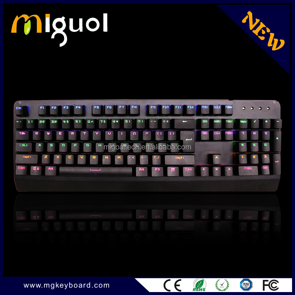 2016 New RGB wired mechanical gaming keyboard