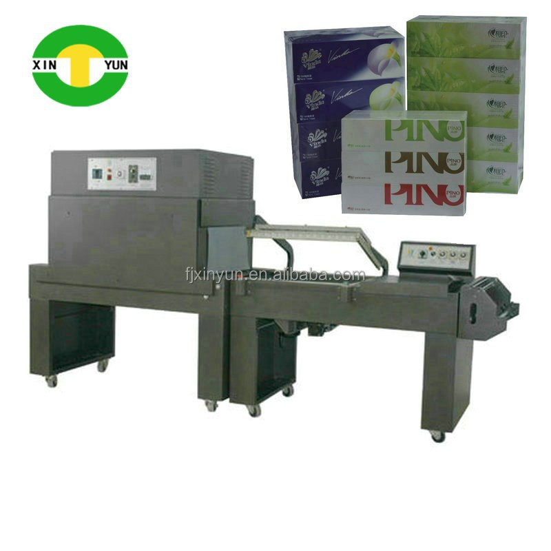 XY-TN-268 Semi Automatic Shrink Wrapping Machine for facial tissue box