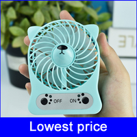 Free sample! usb rechargeable mini handheld travel fan