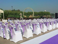 Beatuiful and Flexible Fabric Banquet Chair Covers for wedding