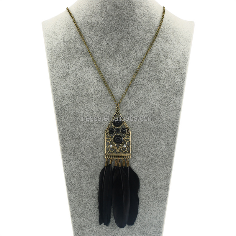 Fashion feather necklace wholesale NS-sku2823