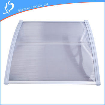 Good Strength Small 100x 80 Polycarbonate Outdoor Window Rain Awning For Home Decoration