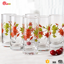 Slant drinking glass cup with handle korea glassware