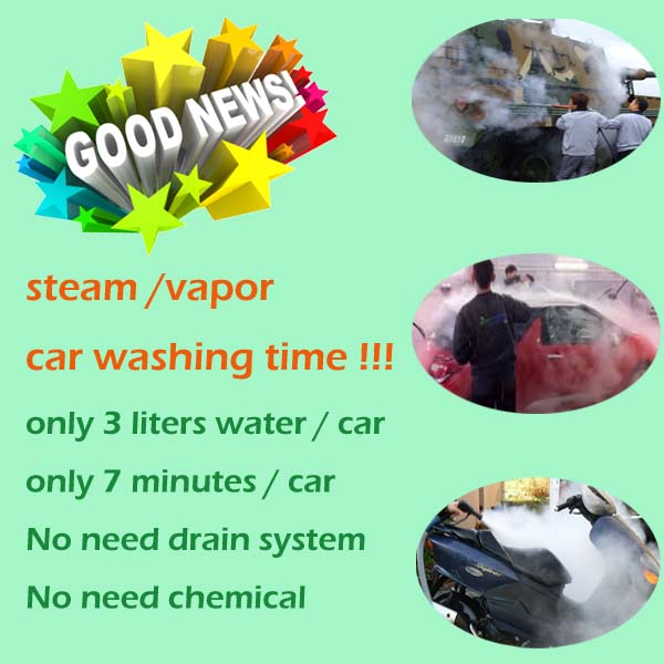 2014 CE approved mobile electric steam hand car wash equipment
