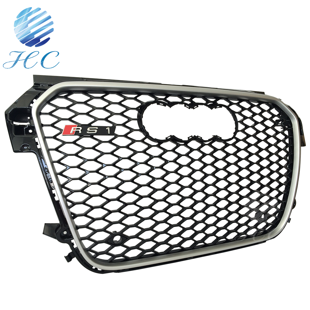 Honey comb mesh cover front grille and car window grille for audi A1 RS1