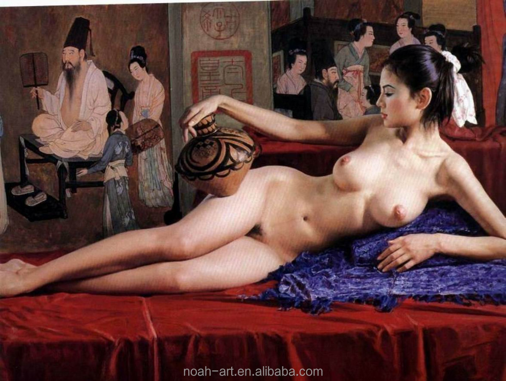 Handmade Sex Nude Canvas Oil Painting Chinese Girl