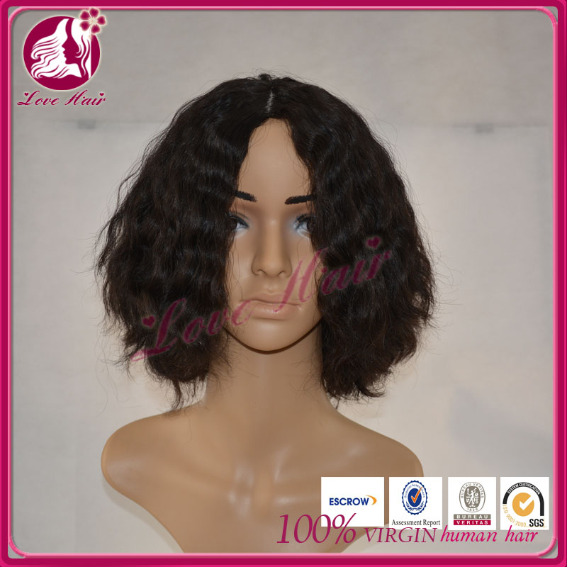 100% Remy Brazilian Human Hair Short Curly Wave Fashion Bob Full Lace Wigs/Lace Front Wigs For Black Women