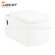 Factory price gravity flushing p-trap concealed tank ceramic wall-hung porcelain toilet bathroom commode