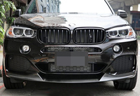 Real Carbon Fiber P Style Front Lip Spoiler For BMW F15 X5 M-Sport Bumper 2014UP B173
