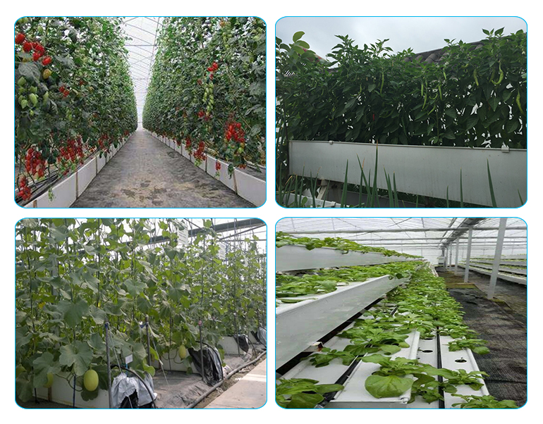 PVC materials Hydroponics plastic trough for greenhouse