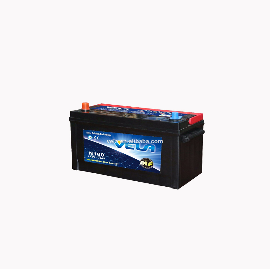 High capacity truck battery <strong>N100</strong>/95E41R 12 volt car battery wholesale