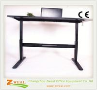 adjustable reading notebook computer table with the cheap price standing desk height square lifting column