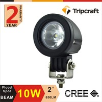 Warranty 2 year Super bright IP67 flood spot beam CREES 12v 10w led work light for motorcycle