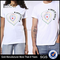 Soft Cotton Custom Tailored Couple Tee Unisex Design T Shirt with Your Own Idea from China Clothes Manufacturing Companies
