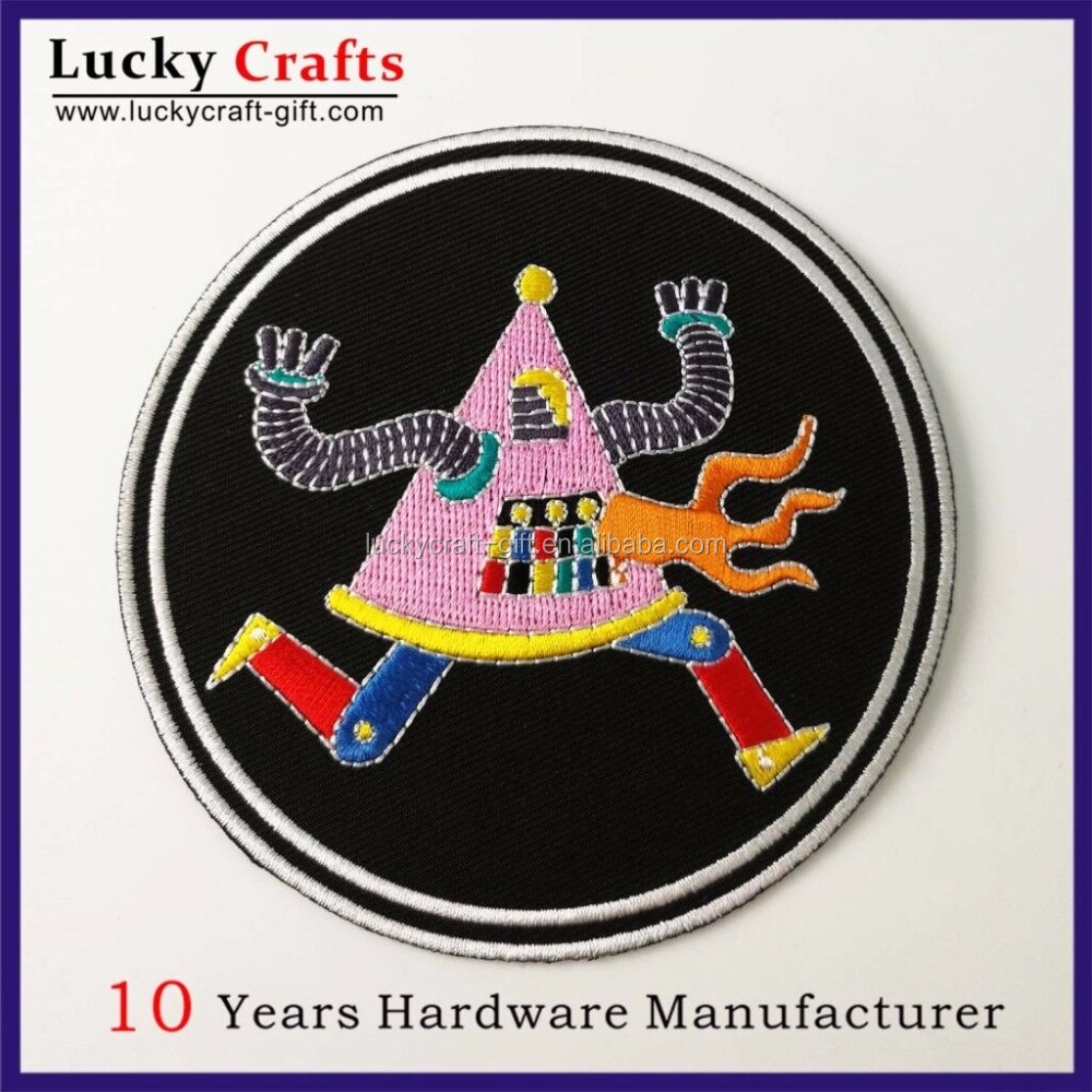 Customized woven badge product type handmade lron-on embroidery patches for gift