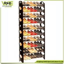 Recycled material plastic shoe rack with angle