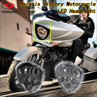 China supplier led light round c ree led motorcycle headlight for Polaris victory motorcycles