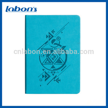 Custom school cuadernos composition book disc leather bound notebook