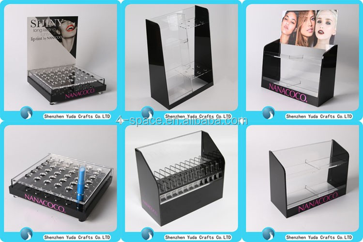 Customized Acrylic Cosmetic Makeup Beauty Retail Pop Display Stand