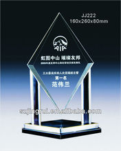 Unique design crystal glass blank award trophy plates JJ222