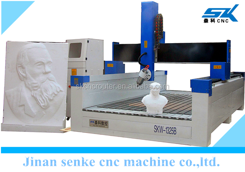 High z axis large size EPS foam car ship mould 3d cnc wood carving machine