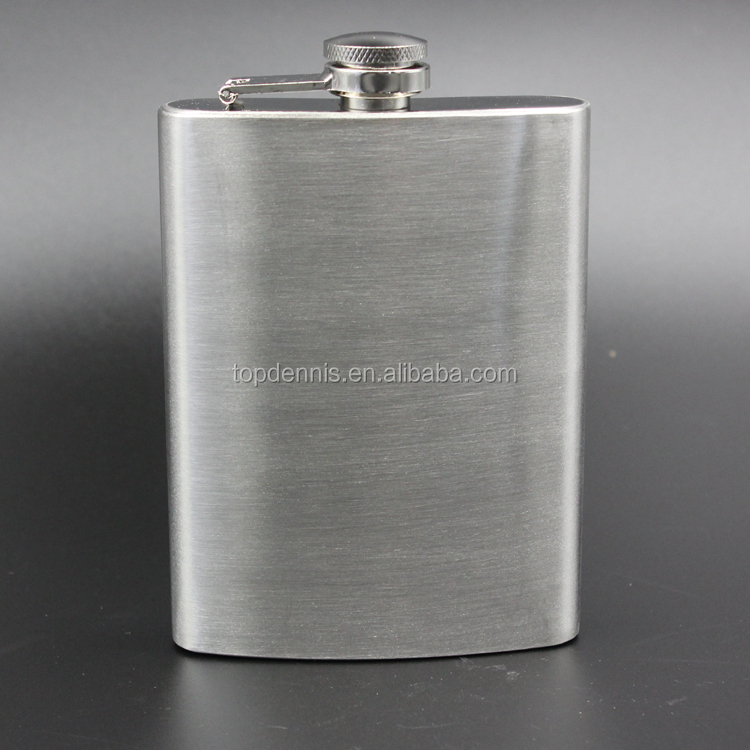 8oz stainless steel hip flask gift for men