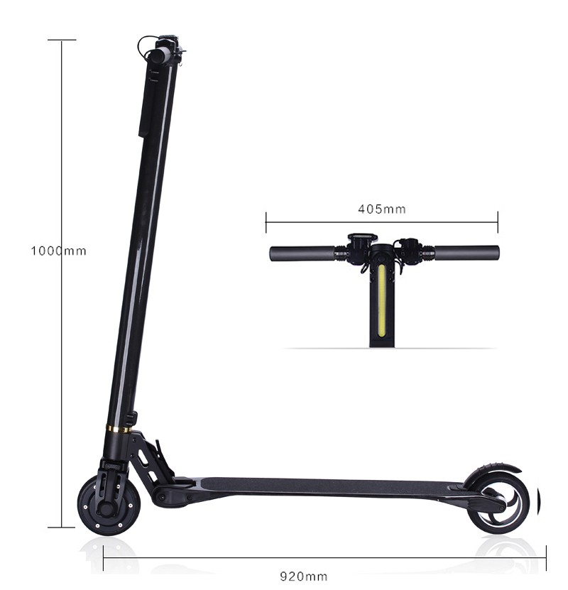 New Shock Absorber Carbon Fiber Self Balancing Two Wheel Mobility Motor Fat Tire Electric mini Scooter