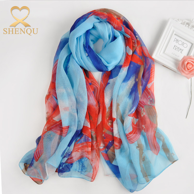 High Quality Printed Floral Satin Long Scarf And Shawl Imitated Satin Silk Scarves And Shawls Jersey Hijab Scarf