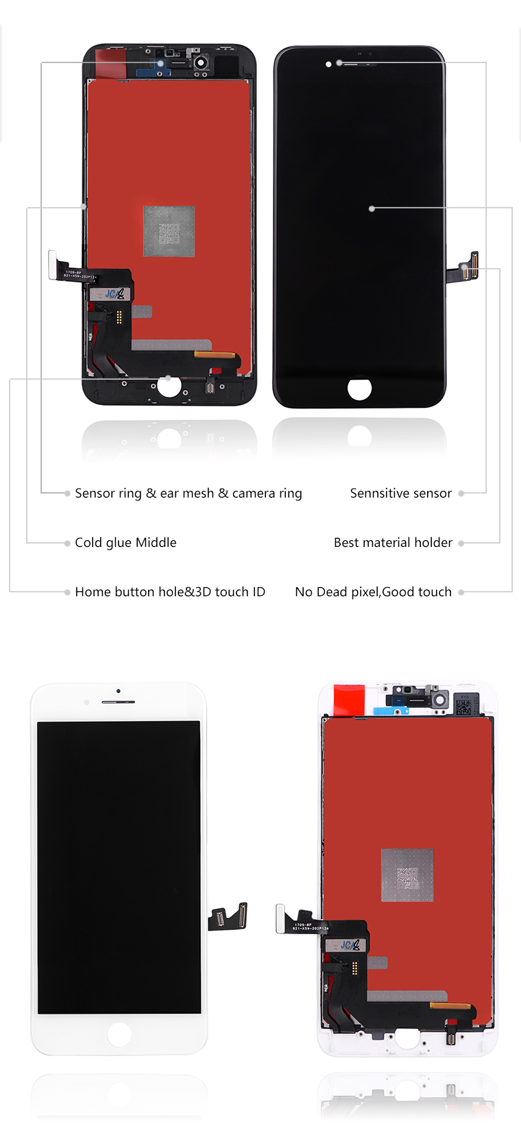 Original replacement for iphone 8 lcd with small parts,for iphone 8 lcd screen,for iphone 8 lcd