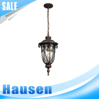 European style Industrial Metal Cage Glass Ceiling light Pendant lamp Fixture