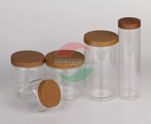 Transparent Imitative Wood Cap Plastic Can High Quality Clear Plastic Bottle
