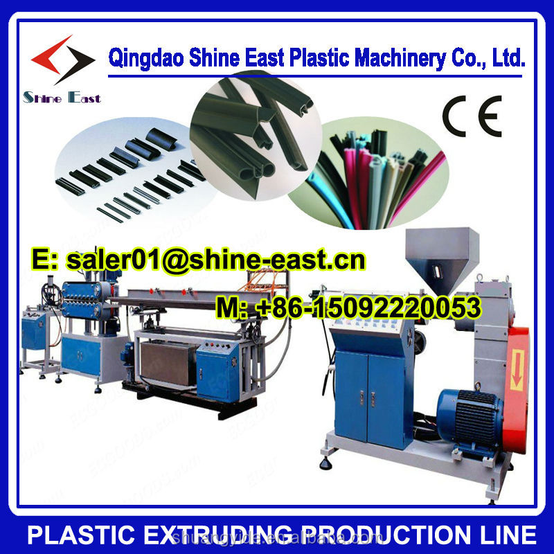 PVC / SPVC / TPE / TPV/TPO / TPU Automotive sealing strip extrusion machine / door gasket fram production line