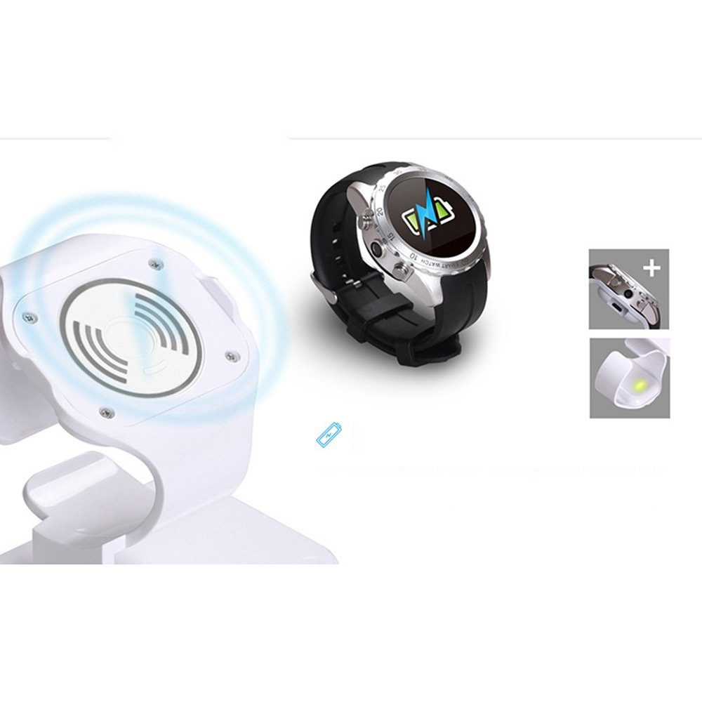 Wifi wireless charging smart watch phone kw08 with long life battery