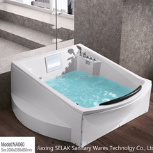 luxury freestanding adult function massage mini whirlpool bathtub