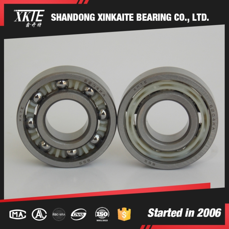 well sales shandong china manufacture 6204TN nylon cage deep groove ball bearing with high quality
