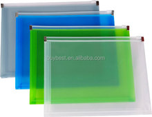 zipper plastic document file bag/file holder