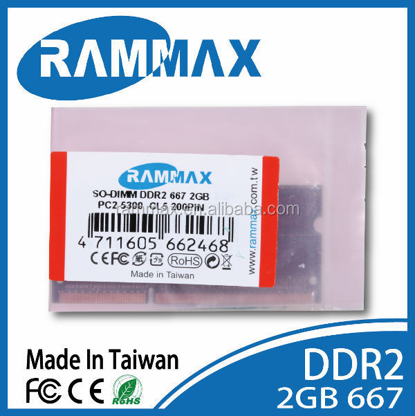 branded export surplus DDR2 SO-dimm 667MHz 2GB memory module. 128*8*16c Laptop notebook computer memoria ram sodimm rammax